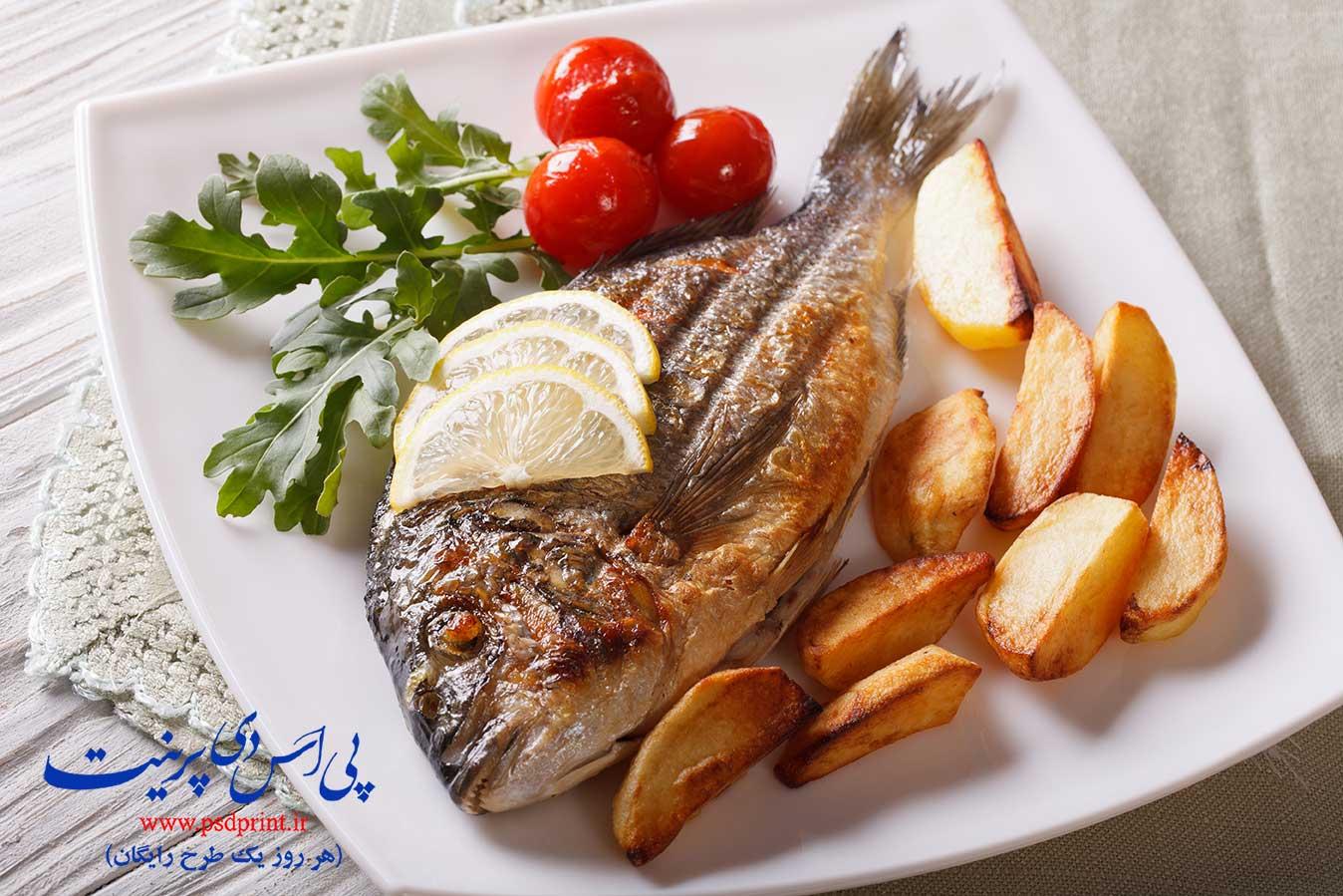 ماهی سرخ شده برای رستوران