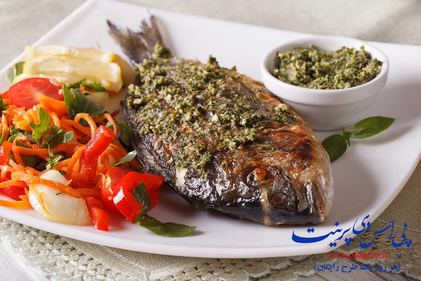 ماهی سرخ شده