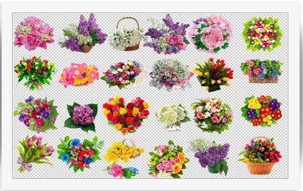 مجموعه طرح های گل